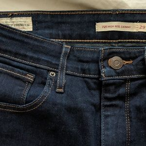 Levi's 721 High Rise Skinny 29 Dark Blue As Is